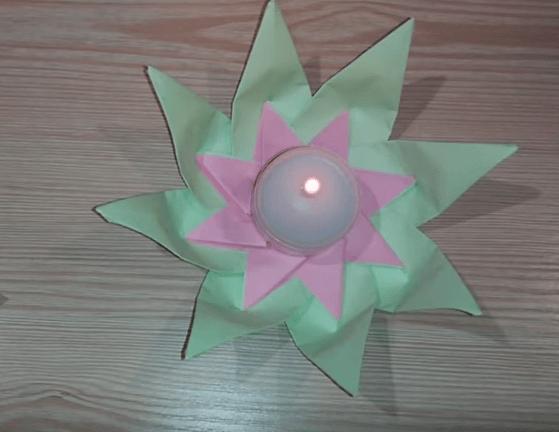 cách làm đèn hoa đăng đơn giản