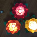 hoa đăng mút xốp 3 lớp